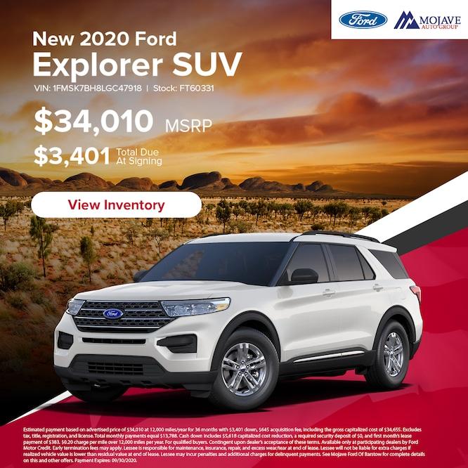2020 Explorer SUV Special