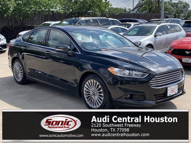 Used 2014 Ford Fusion Titanium Sedan for sale in Houston