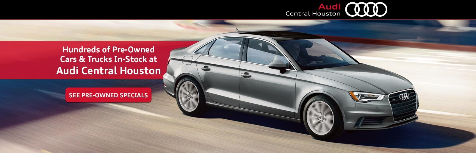 Audi Central Houston Audi Dealership In Houston TX - Houston audi