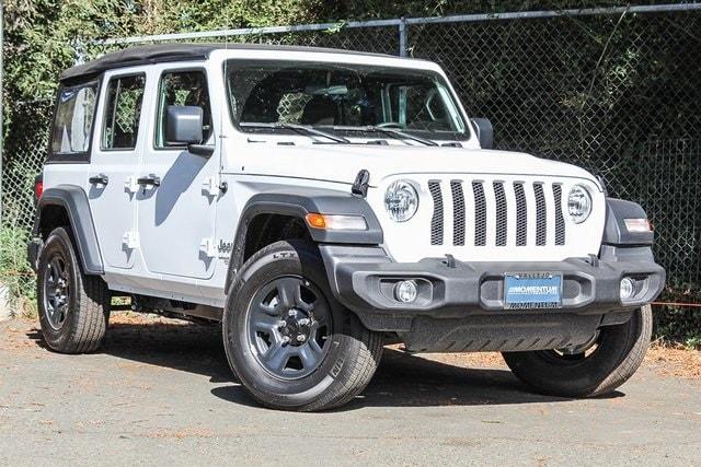 New 2018 Jeep Wrangler UNLIMITED SPORT 4X4 Sport Utility in Vallejo, CA