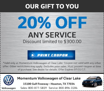 Vw Auto Service Amp Repair Houston Momentum Volkswagen Of Clear Lake
