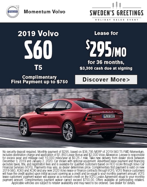 2019 Volvo S60 Lease Special
