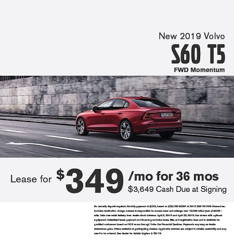 New 2019 Volvo S60 T5 FWD Momentum