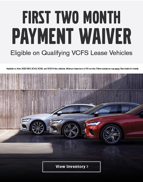 Two Month Payment Waiver Volvo