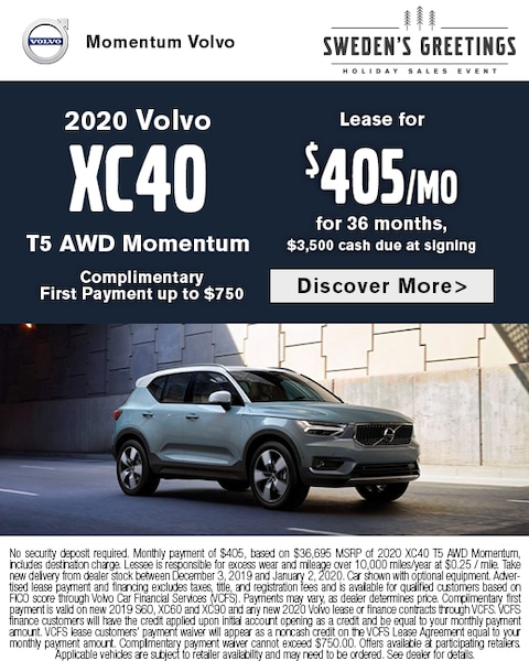 2020 Volvo XC40 Lease Special