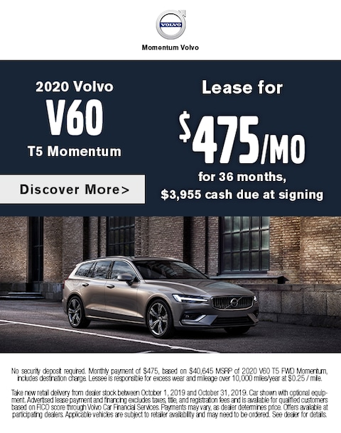 2020 Volvo V60 Lease Special