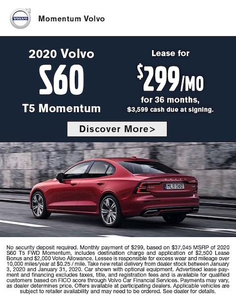 2020 Volvo S60 Lease Special