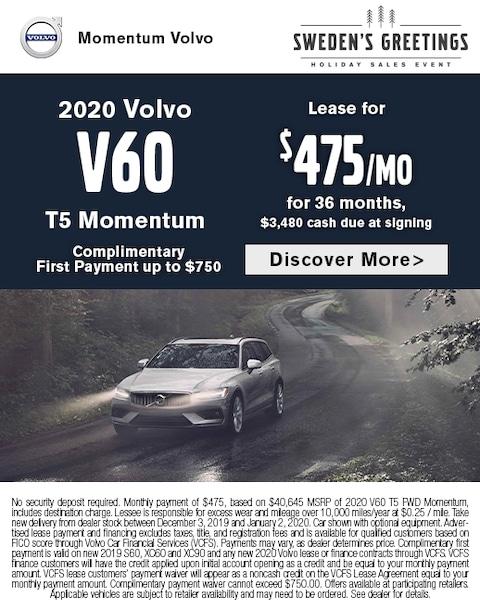 2020 Volvo V60 Lease Special