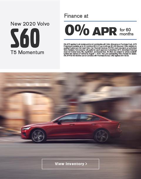 2020 Volvo S60 Finance Specials
