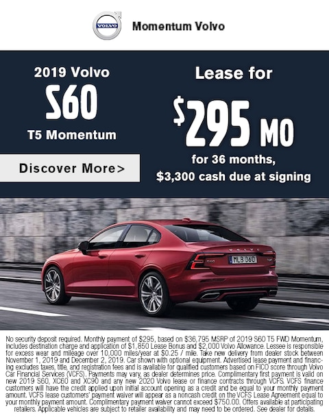 2019 S60 Lease Special