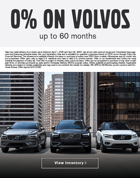0% for up to 60 months on New Volvos