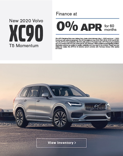2020 Volvo XC90 Finance Specials
