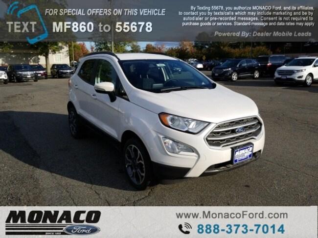New 2018 Ford EcoSport SE SUV in Glastonbury, CT