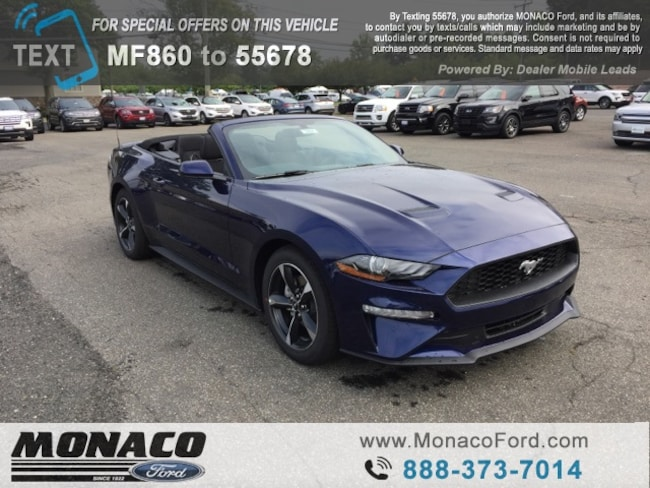 New 2019 Ford Mustang Ecoboost Convertible in Glastonbury, CT