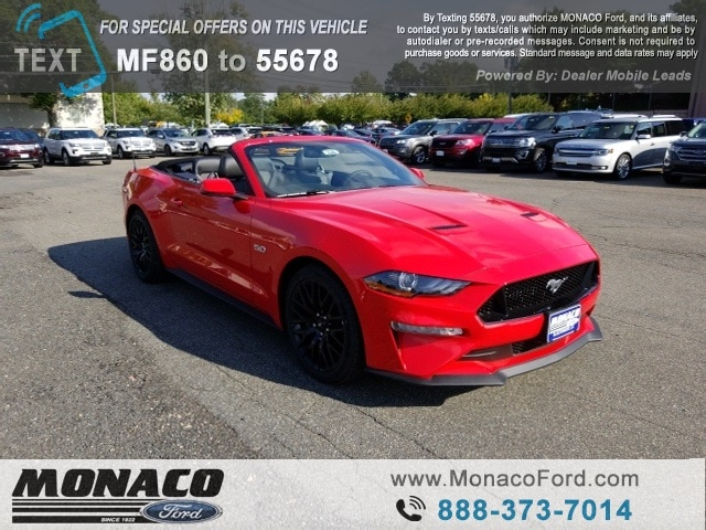 New 2019 Ford Mustang GT Premium Convertible Hartford, Connecticut