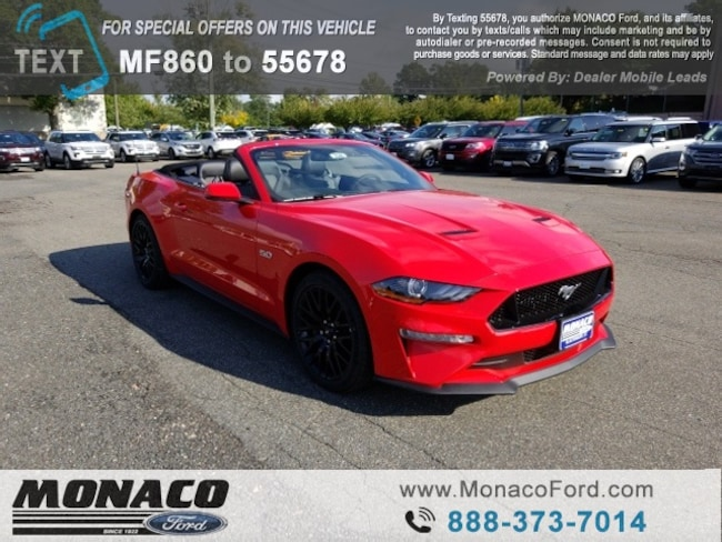 New 2019 Ford Mustang GT Premium Convertible in Glastonbury, CT