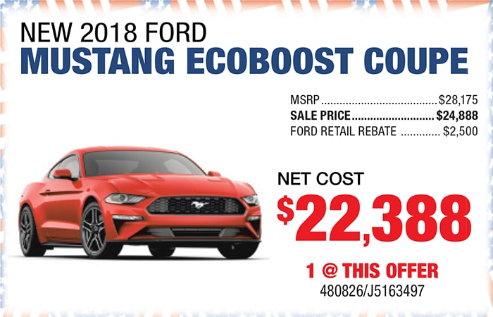 New 2018 Ford Mustang Ecoboost Coupe
