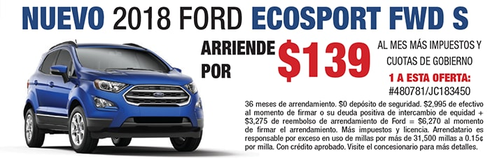 New 2018 Ford Ecosport FWD SE