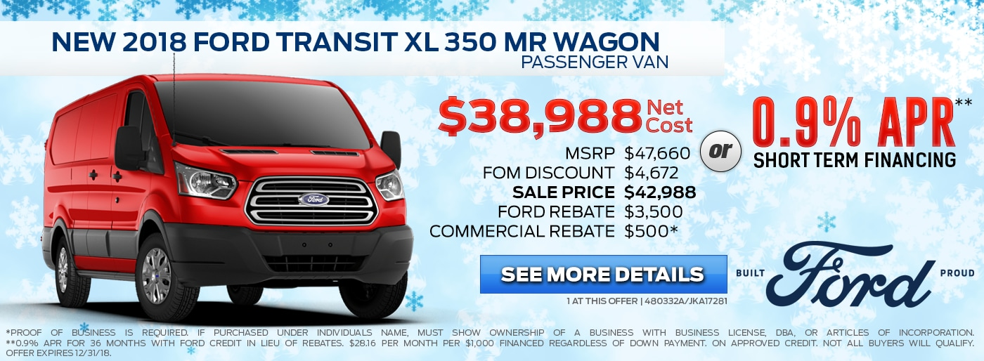 2018 Ford Transit XL 350 MR Wagon Passenger Van