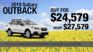 Save $3,000 on a 2019 Subaru Outback