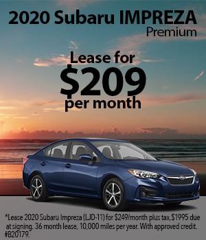 2020 Subaru Impreza Lease Special
