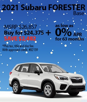 Save $2,482 on a 2021 Subaru Forester