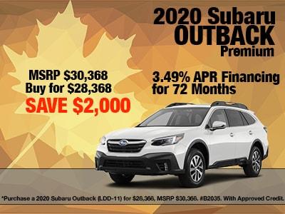 2020 Subaru Outback Premium Special
