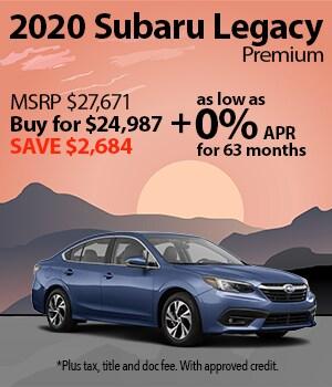 Save $2,684 on a 2020 Subaru Legacy