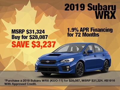 2019 Subaru WRX Special