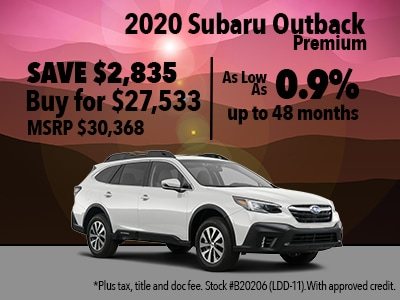 Save $2,835 on a 2020 Subaru Outback Premium
