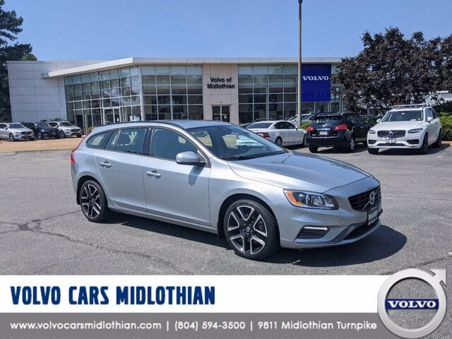Featured pre-owned 2018 Volvo V60 T5 Dynamic Wagon for sale in Midlothian, VA
