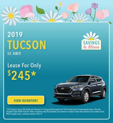 New 2019 Hyundai Tucson 4/5/2019