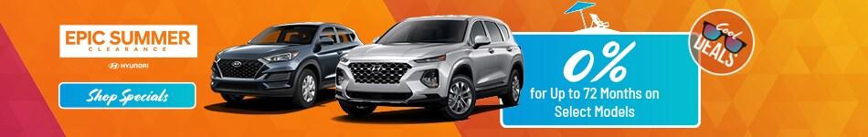 2019 New Hyundai Summer Clearance 08/09/2019