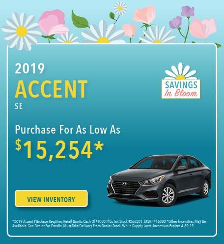 New 2019 Hyundai Accent 4/5/2019
