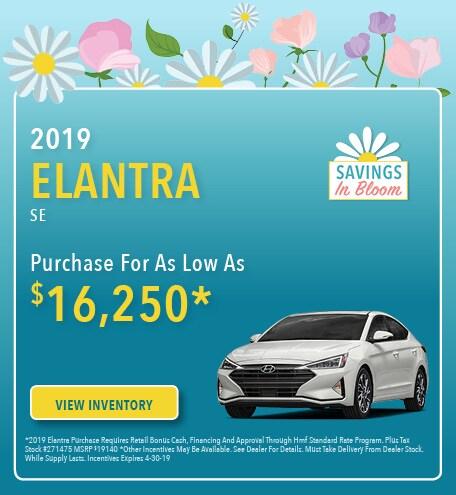 New 2019 Hyundai Elantra 4/5/2019