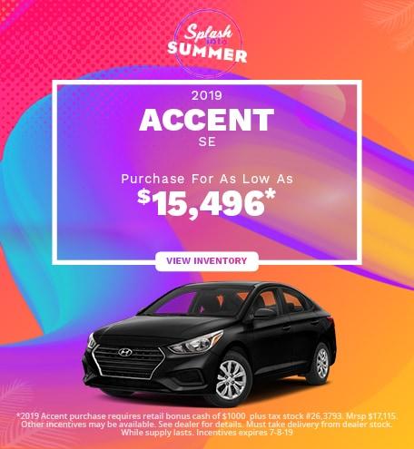 New 2019 Hyundai Accent SE- 06/05/2019