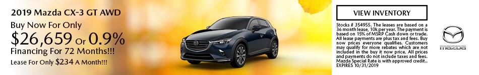 2019 Mazda CX-3 10/8/2019