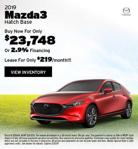 New 2019 Mazda3 Hatchback 5/7/2019