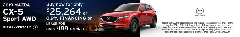 New 2019 Mazda CX-5 8/6/2019