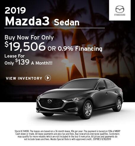 New 2019 Mazda3 9/12/2019