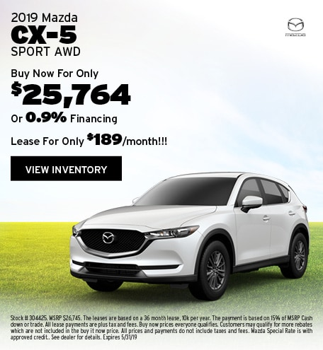 New 2019 Mazda CX-5 5/7/2019
