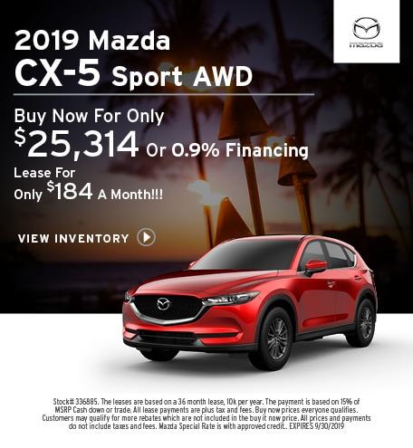 New 2019 Mazda CX-5 9/12/2019
