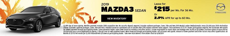 New 2019 Mazda3 6/14/2019