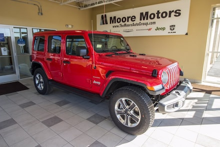 Featured new 2021 Jeep Wrangler UNLIMITED SAHARA 4X4 Sport Utility for sale in Caro, MI
