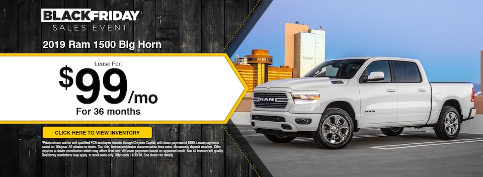 2019 Ram 1500 Big Horn Lease Special