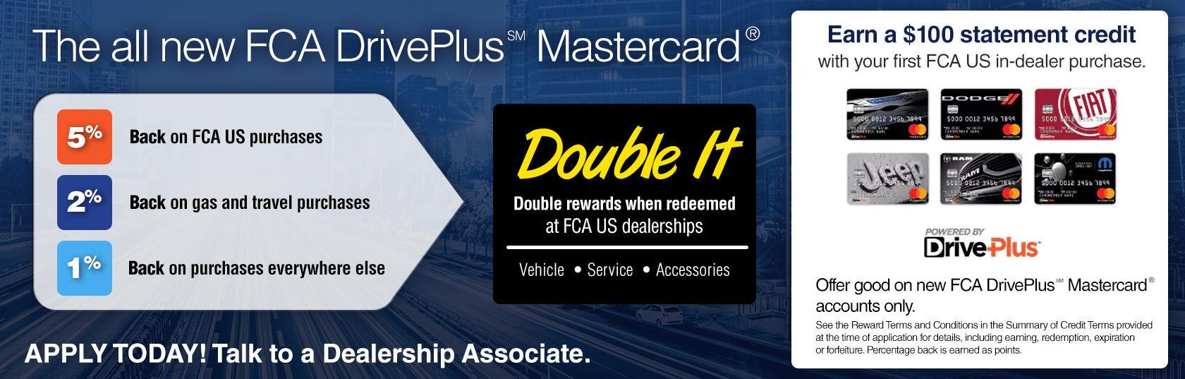 ea7a21c03 FCA DrivePlus Mastercard | St. Clair Chrysler Jeep Dodge Ram