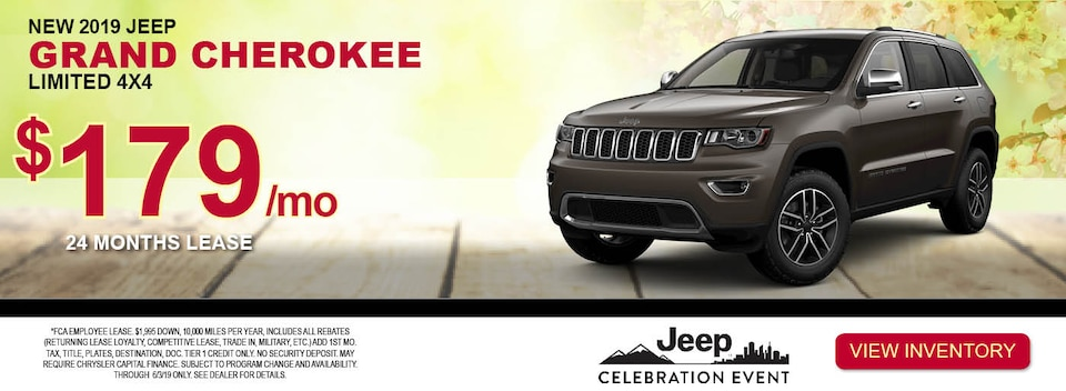 2019 Jeep Grand Cherokee Limited 4x4 Lease Special