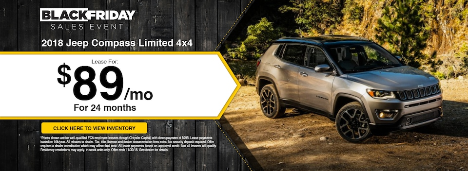 2018 Compass Limited 4x4 Lease Special