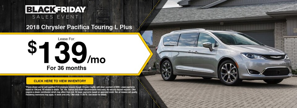 '18 Chrysler Pacifica Touring L Plus Lease Special