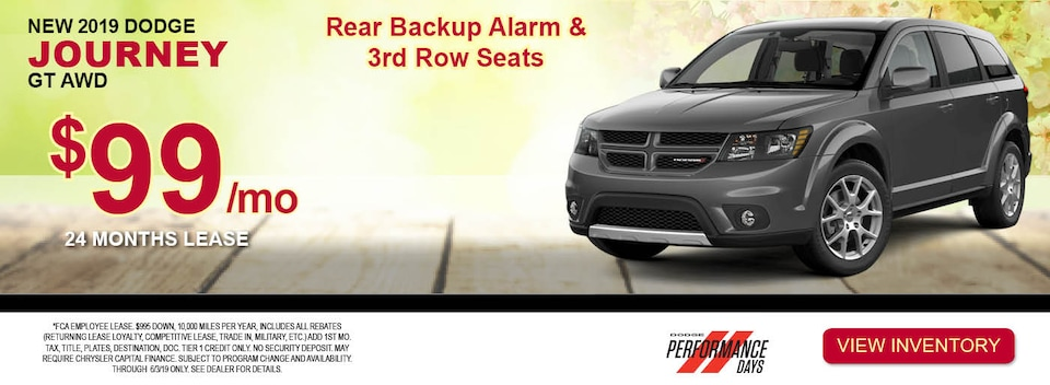 2019 Dodge Journey GT AWD Lease Special
